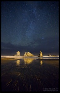 At Night on Bandon Beach
